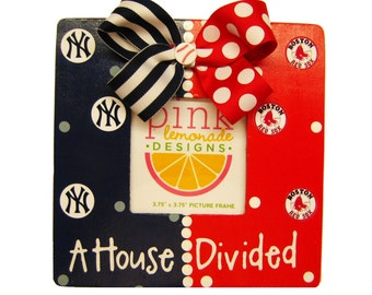 A House Divided Picture Frame Custom for ANY teams