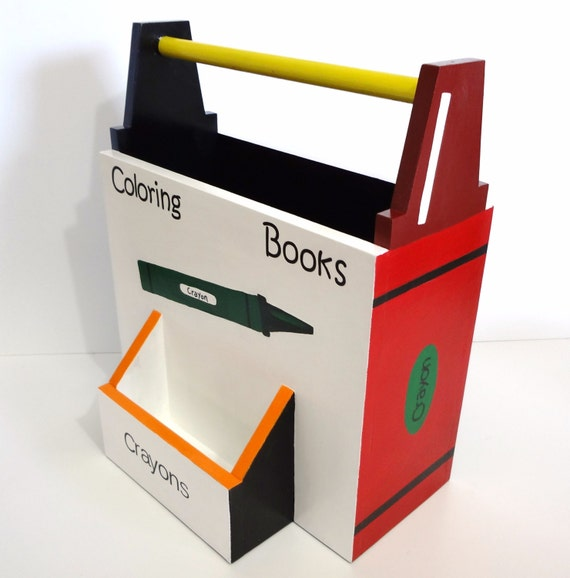 Book Caddy Coloring Book Caddy Nursery Decor By DREAMATHEME