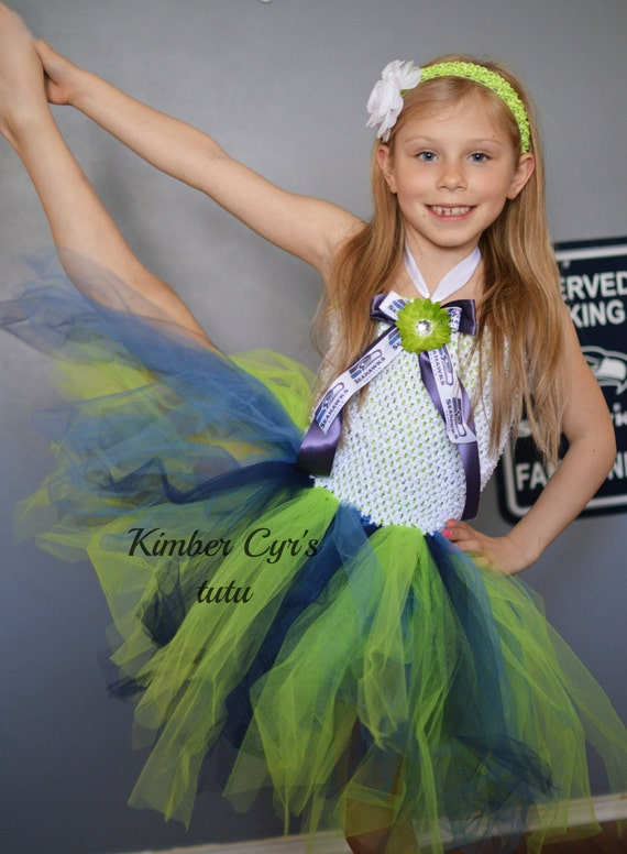 NFL Seattle seahawk Tutu Dressnewborn to PreTeen by kimbercyr
