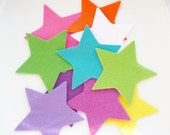Felt star shapes 10 big stars in bright wool felt die cut felt shapes pre cut arts and crafts 3.2inch