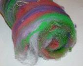 SPARKLE Art Batt for Spinners or Felters---1.4 oz---   No.57