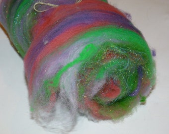 SPARKLE Art Batt for Spinners or Felters---1.4 oz---   No.57