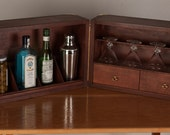 The Rough Rider Martini Case, a hand built, custom sized cocktail bar