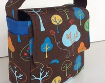 Preschool Lunch Bag, Toddler Lunch Bag, School Lunch Bag, Eco Friendly, Boys Lunch Bag, Girls Lunch Bag, Brown Lunch Bag, Trees