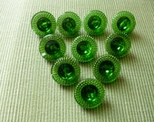 Glass Buttons Set of 10 (f231)