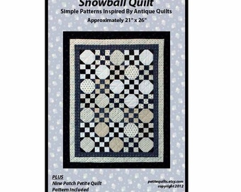 REDUCED!  Snowball Quilt Pattern