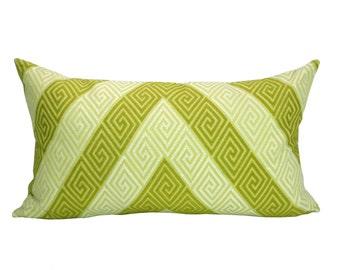 Nebaha Embroidery lumbar pillow cover in Citron