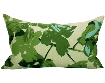 Fig Leaf lumbar pillow cover in Original on Natural