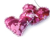 Valentines Day Hearts  - Soft Sculpture Hearts Purple Blue Valentines Day
