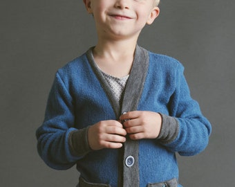 Cool Cardigan PDF Sewing Pattern for Knit Fabric. Sizes 18m 2T 3T 4T 5 6 7 8