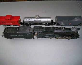 "Vintage American Flyer ""S"" Gauge Train Set - 1940's - Converted to DC Current"