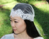 GABBY - Vintage Inspired Lace Beaded Bridal Cap
