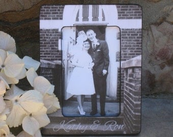 Anniversary Picture Frame, Personalized Parents Anniversary Gift, Wedding Photo Frame, Unique Wedding Gift, Custom Engagement Picture Frame