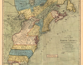 1771 Map of the US and Canada
