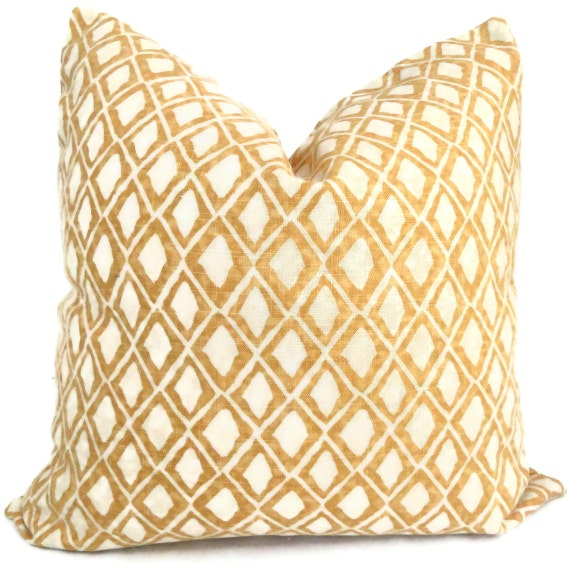 22x22 Decorative Pillows : Nate Berkus Gold Wood Block Diamond Decorative Pillow Cover