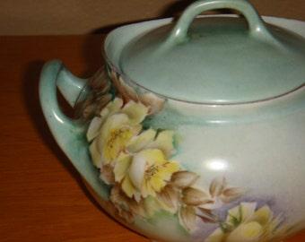 Vintage Hand Painted Hutschenreuther Sugar Bowl