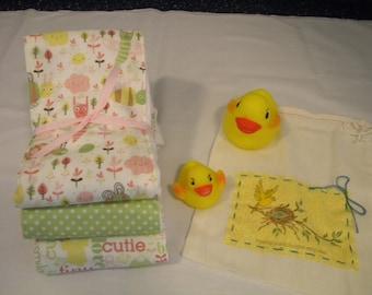 Cutie Pie-(Set of 3) Baby Burp Cloths