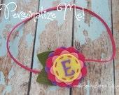 Personalized Monogrammed Felt Flower Headband