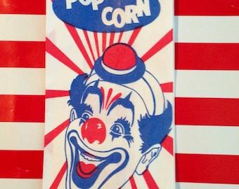 Derby Hat Clown Popcorn Bags qty 30