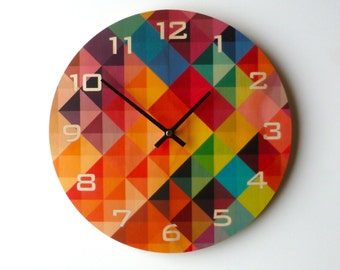 Objectify Grid2 Wall Clock With Numerals - Medium Size