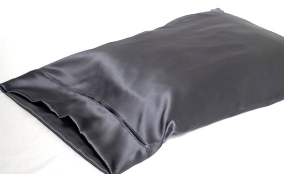 Sale 100 Silk Pillowcase Charcoal Gray Standard By