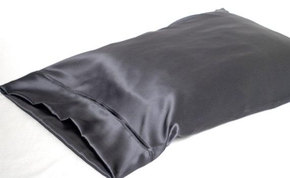 Sale 100 Silk Pillowcase Charcoal Gray Standard By