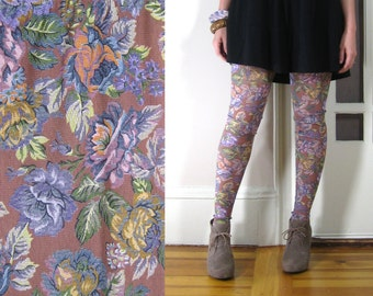 Long leggings high waisted tight and fitted printed for Sheer galaxy fabric