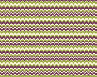 54002 -  Joel Dewberry Heirloom collection Marbled stripe in green color-1 yard