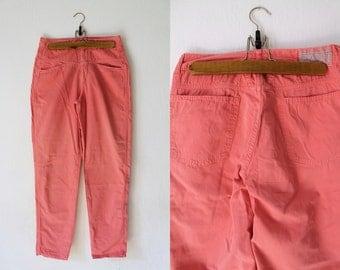 Vintage Coral Pants - 1980's Coral Denim - Closed Jeans - Size S-M