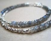 Labradorite and Hill Tribe Silver wrap bracelet