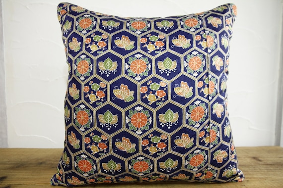 Traditional Pillow Easy Clean Medium : ON SALE Japanese Traditional Decorative pillow by kimonostyle