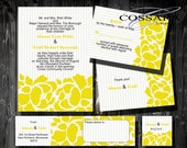 Free Gift - Printable / Digital Floral Wedding Invitation Suite with Stripes / Custom color / DIY Weddings / Style 00101WS5