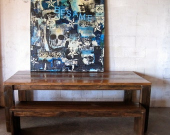 Beautiful Reclaimed Wood Dining Table.rugged chic.loft style