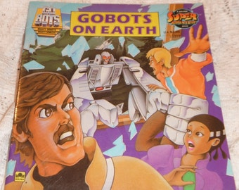 Gobots on Earth Go Bots Vintage softcover Golden Book