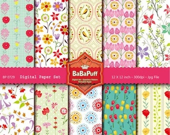 Instant Downloads, 10 Digital Papers Clip Art. For Your Handmade Crafts Projects. Personal and Small Commercial Use. BP 0729
