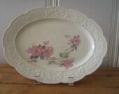 A Vintage Rose Platter