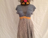 Tea Party Princess dress hand dyed and made from antique lace