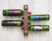 Inexpensive Christmas gift Gift, Small Wine Rack, 4 bottle wooden Wine rack, Cool Gift Idea, Space saving ideas