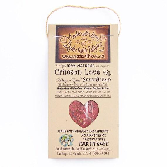 oz Crimson Love Artisan Spice Blend - RAW Gourmet Organic Herb Spice ...