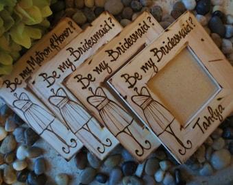 Bridesmaid proposal gifts custom wedding frames, will you be my bridesmaid?