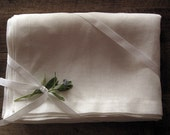 White Linen Tablecloth, Easter tablecloth