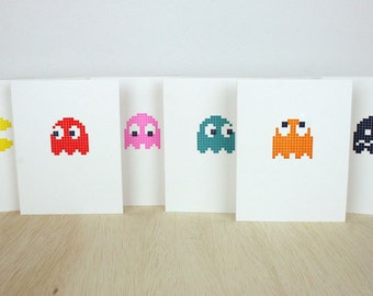 Pac-Man Letterpress Cards - Set of 6