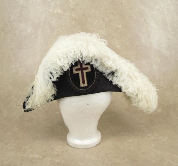 Bicorn Hat: Vintage Cocked Bicorn Bicorne Hat Size 7-3/8 By DrStrangeGoods
