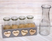 Sand Ceremony Set for Your FAMILY Children Crate Personalized Centerpiece (3 PERSON)