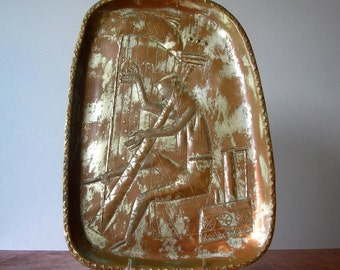 Mid Century Modernist Yaad Israel Copper Relief / Wall Art