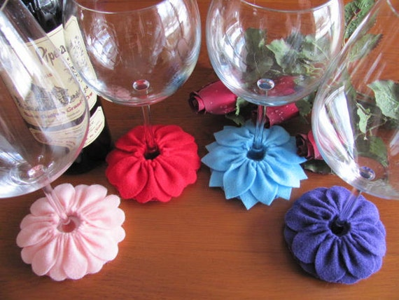 Wine Glass Slipper Pattern Stemware Coaster Pattern Felt