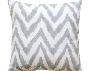 Decorative Pillows, Gray Chevron Pillow, Diva Storm Grey Pillow Cover, Zippered Pillow, Cushion Cover, Accent Pillow, Couch Throw Pillows
