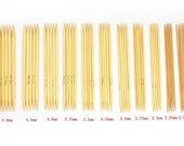 11 sizes 5 inches Double Point Knitting Bamboo Needles 5 set, Total 55 Pcs