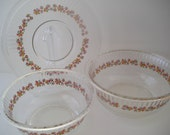 Glass Mixing Bowls and Serving Plate