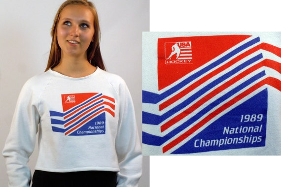 1989 USA Hockey National Championship Sweatshirt / 1980s Sports / Vintage Hockey Sweatshirt / Size M-L